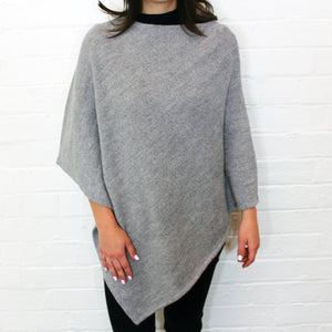 Alpaca Wool Poncho - Grey