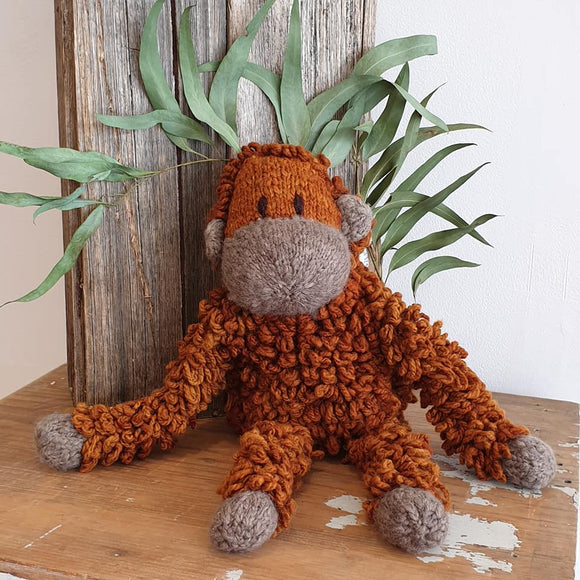 Homespun Wool Orangutan - Medium - The Fair Trader