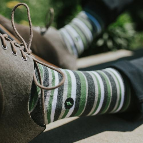 Socks For Disaster Relief - Stripes - Medium - The Fair Trader