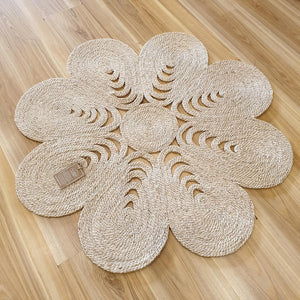 Flower Shapla Jute Mat - The Fair Trader