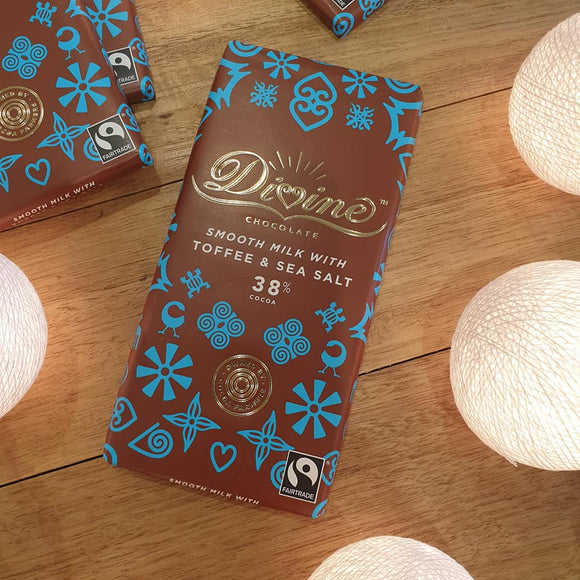 Smooth Milk Chocolate with Toffee and Sea Salt - The Fair Trader