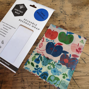 Beeswax Food Wraps - 2 Pack Small & Medium