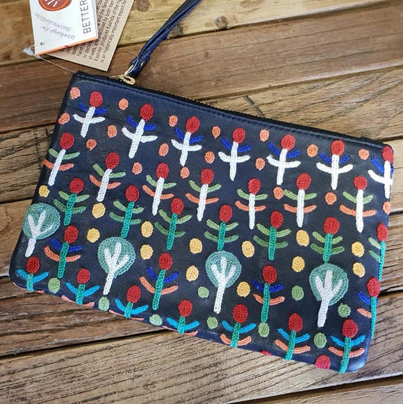Rosie Ngwarrin Ross 'Bush Medicine' Clutch