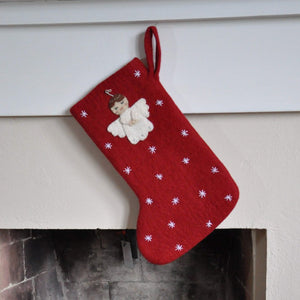 Angel Felt Stocking