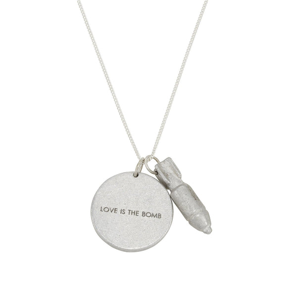 Love is the Bomb Jewelgram Necklace - The Fair Trader