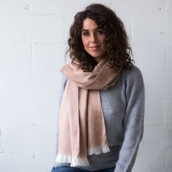 Alpaca Wool Classic Scarf - Rose Gold - The Fair Trader