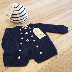 Alpaca Baby Cardigan - Navy - The Fair Trader