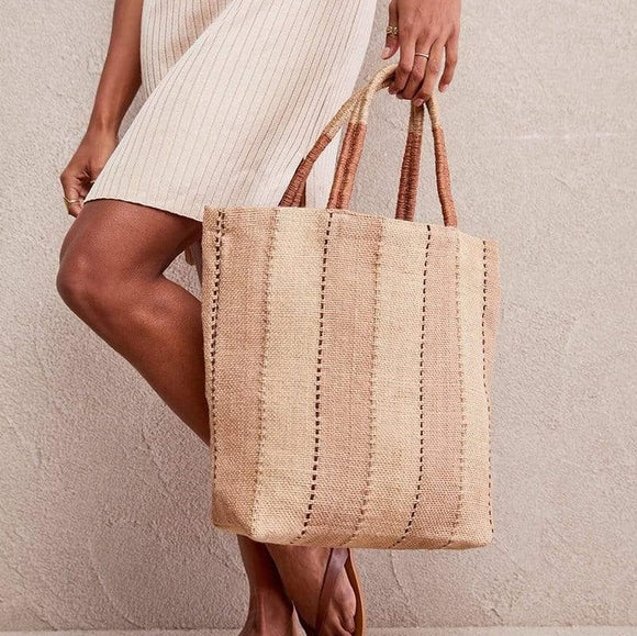 Jute Shopper - Clay - The Fair Trader