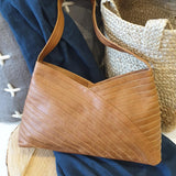 Crisscross Shoulder Bag - Camel Leather - The Fair Trader