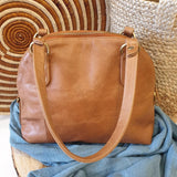 Half Moon Laali Leather Handbag