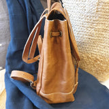 Mini Foldover Leather Backpack - The Fair Trader