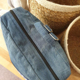 Upcycled Fabric Backpack - Blue Gingham - The Fair Trader