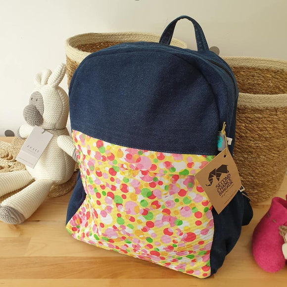 Upcycled Fabric Backpack - Spots - The Fair Trader
