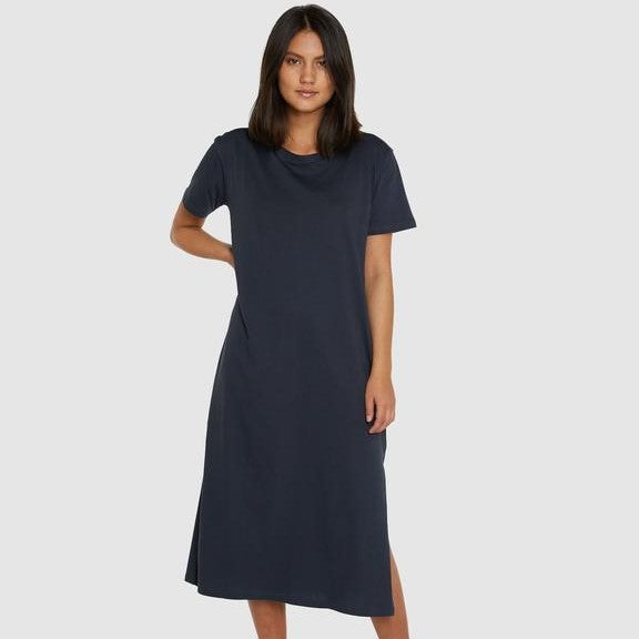 Boxy Tee Dress - Graphite - The Fair Trader