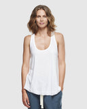 Slub Singlet - White - The Fair Trader