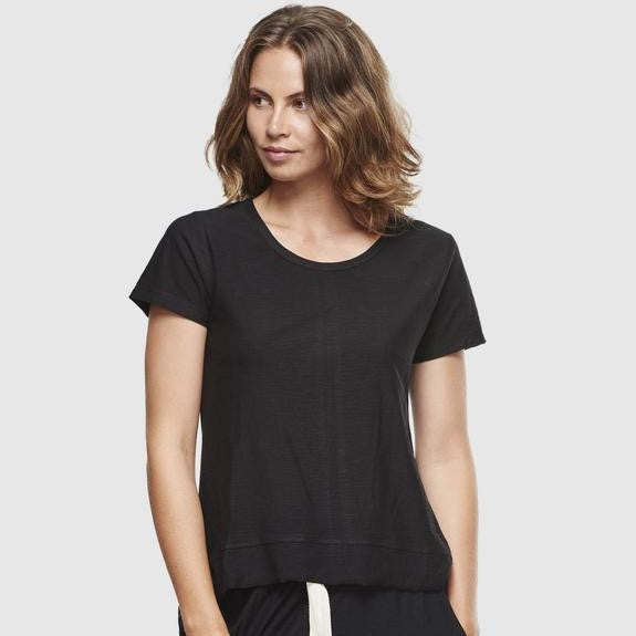 Slub T-Shirt - Black - The Fair Trader