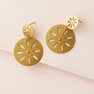 Chameli Earrings - Petal Coin - The Fair Trader