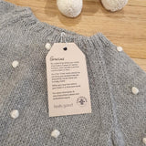Alpaca Baby Bobble Jumper - Grey/Cream - The Fair Trader