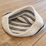 Alpaca Baby Beanie - Cream and Navy Stripe - The Fair Trader