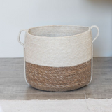 White Jute and Natural Seagrass Basket