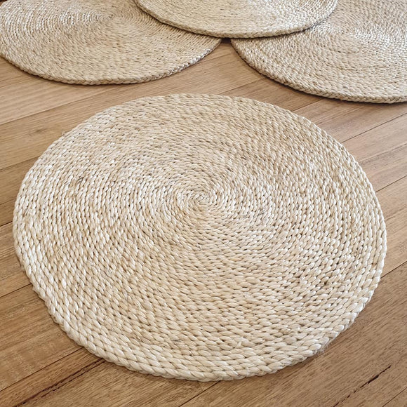 Natural Circular Jute Placemat - The Fair Trader
