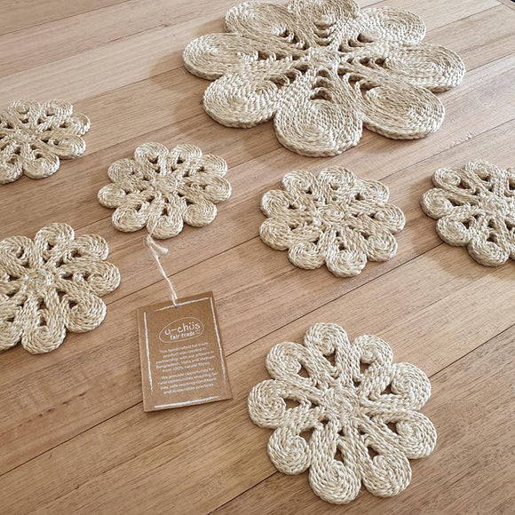 Shapla Jute Coasters - Set of 6
