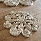 Shapla Jute Coasters - Set of 6 - The Fair Trader