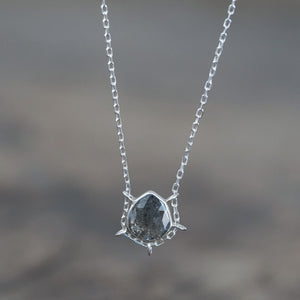 Pear Salt and Pepper Diamond Necklace - The Fair Trader
