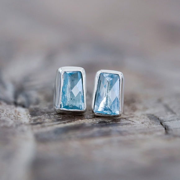 Trapeze Blue Topaz Earrings - The Fair Trader