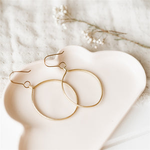 Ruthi Round Large Hoop Earrings - The Fair Trader