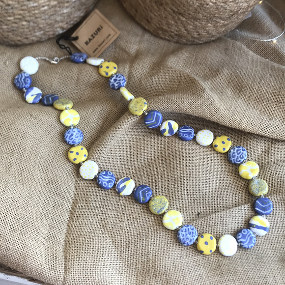 "Kazuri Smartie Necklace - Cleo 30"" - The Fair Trader"