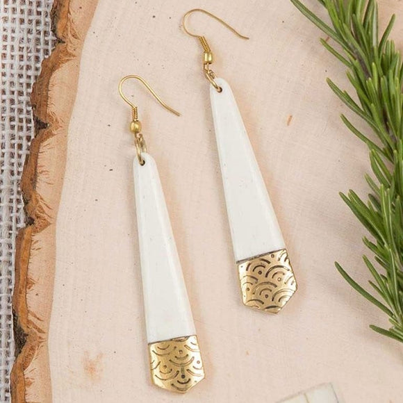 Anika Earrings - Tapered - The Fair Trader