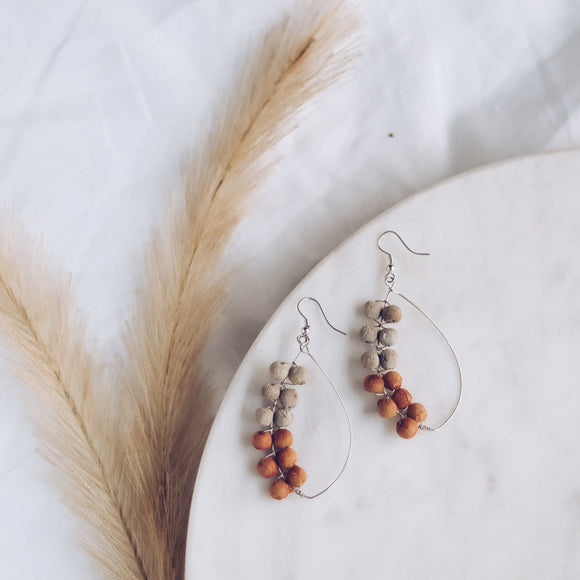Upcycle Crescent Dreams Earrings - Cantelope