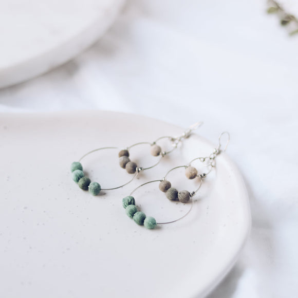 Upcycle Drop of Colour Earrings - Mint