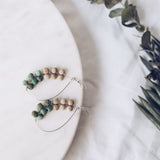 Upcycle Crescent Dreams Earrings - Mint - The Fair Trader