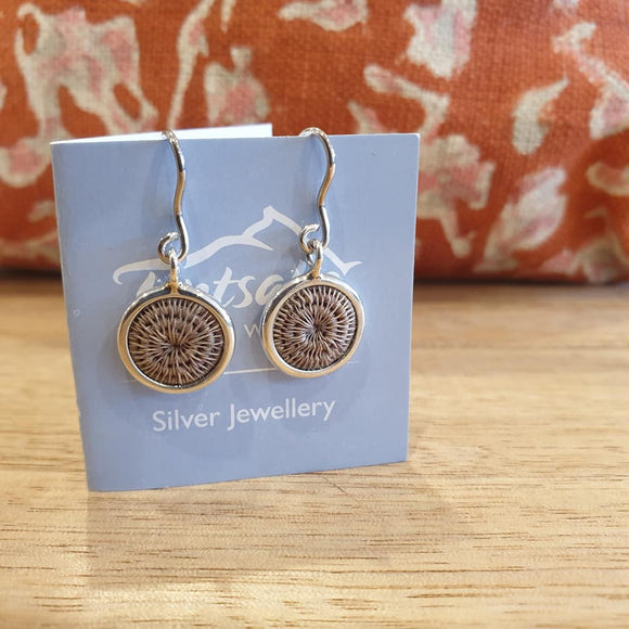 Mini Silver Hanging Earrings - Oyster - The Fair Trader