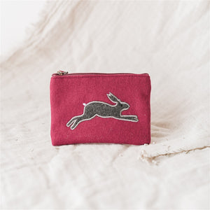 Leaping Hare Felt Purse - The Fair Trader