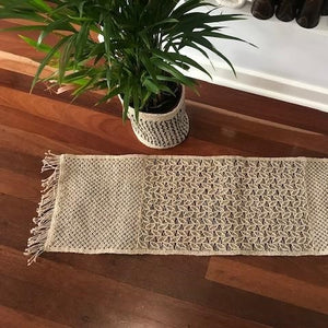 Macrame Hand Knotted Table Runner - The Fair Trader