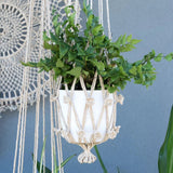 Flower Sika Macrame Plant Hanger - Natural - The Fair Trader