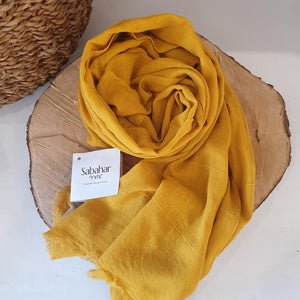 Maraki 100% Cotton Shawls - Gold