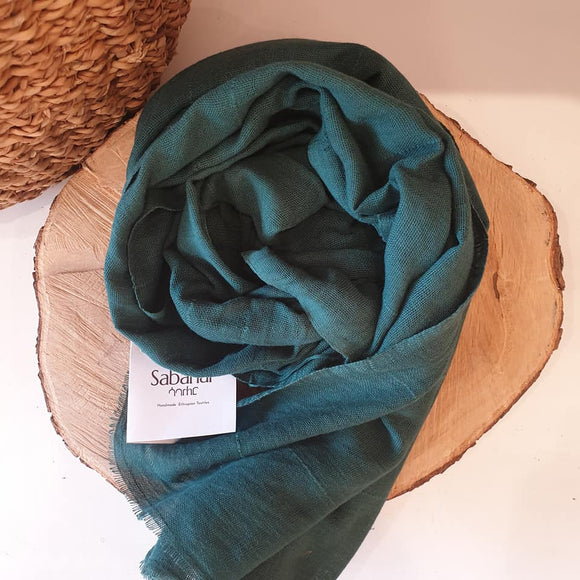 Maraki 100% Cotton Shawls - Pine Green