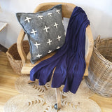 Wool / Cashmere Mix Scarf - Navy