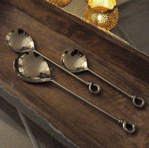 Stainless Steel Knotted Serving Spoons - Trio
