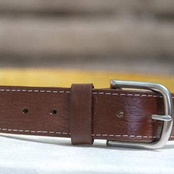 Brown Leather Belt - The Fair Trader