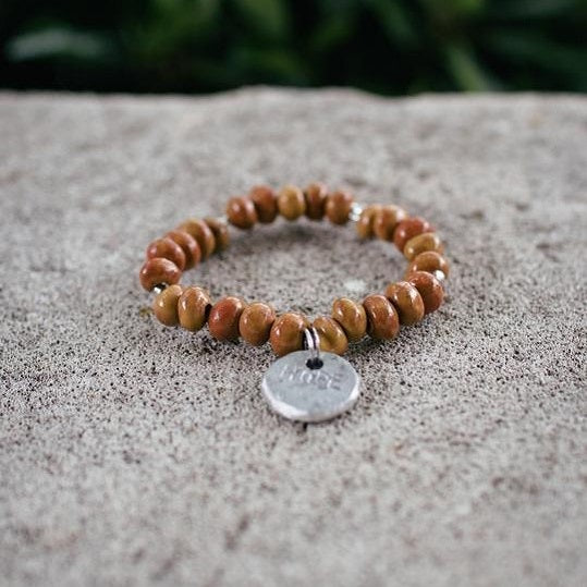 Goldenrod Bead Stackable Hope Bracelet - The Fair Trader