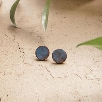 Mapou Stud Earrings - Blue - The Fair Trader