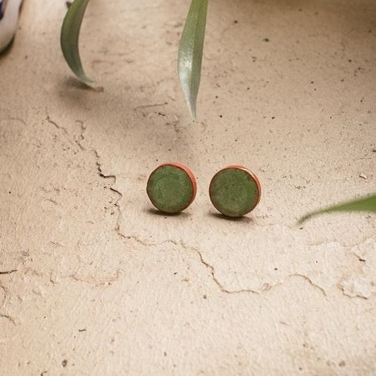 Mapou Stud Earrings - Green - The Fair Trader