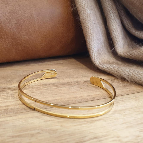 Faith Like a Mustard Seed Bangle - Gold - The Fair Trader