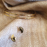 Faith Like a Mustard Seed Stud Earrings - Gold - The Fair Trader