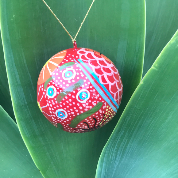 Indigenous Art Christmas Bauble - Damien and Nyinkala Marks - The Fair Trader